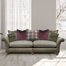 Alexander & James Blake 2 Seater Scatter Back Sofa Fabric & Leather Sofa Option 1