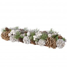 White Rectangular15x45x9cm Pinecone Tealight Holder