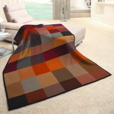 Biederlack Large Check Throw Multi Coloured 150cm x 200cm