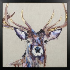 Artko Majesty l 74cm x 74cm Picture Black Frame by Louise Luton