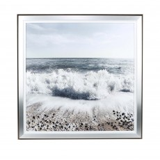 Artko Shore Breaks 103cm x 103cm Picture Silver & Black Frame by Vanna Fevralova
