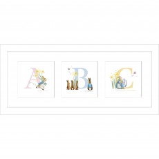 Artko ABC Triptych 53cm x 23cm Picture White Frame by Beatrix Potter