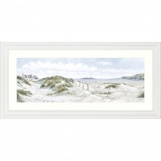 Artko White Sands 127cm x 61cm Picture White Frame by Macneill