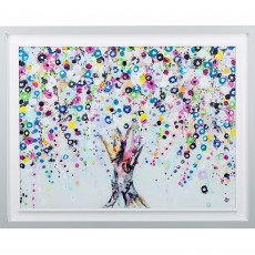 Artko Wishing Tree 94cm x 74cm Picture White Frame by Sara Otter