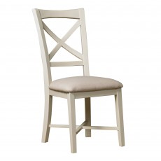 Paradis Painted Dining Chair c/w Fabric Seat Pad