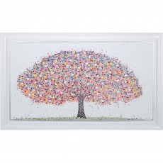 Artko Hello Spring 126cm x 76cm Picture White Frame by Sarah Otter