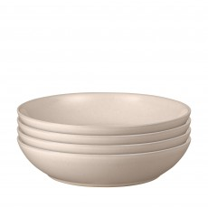 Denby Intro 4 Piece Set of Pasta Bowls Taupe