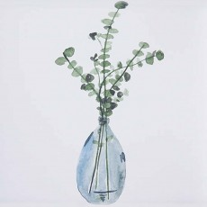 Camelot Misty Grey Vase III 36cm x 43cm Picture Black Frame By Melissa Wang