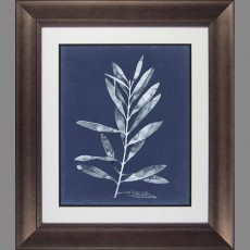 Camelot Midnight Leaves I 58cm x  67cm Picture Brown Frame