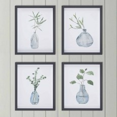 Camelot Misty Grey Vase IV 36cm x 43cm Picture Black Frame By Melissa Wang