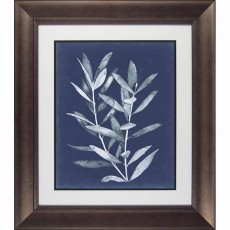 Camelot Midnight Leaves II 58cm x  67cm Picture Brown Frame