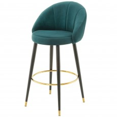 Mindy Brownes Ashley Bar Stool Fabric Teal