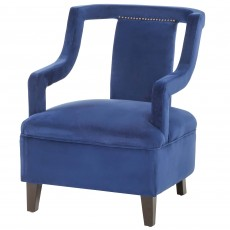 Mindy Brownes Kelsey Armchair Fabric Royal Blue