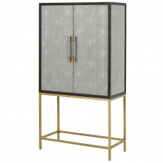 Mindy Brownes Hamilton Bar Cabinet Shagreen