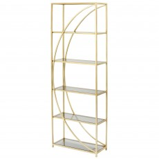 Mindy Brownes Leia Etagere Shelving Unit Gold