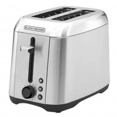 Black & Decker 2 Slice Toaster Brushed Steel