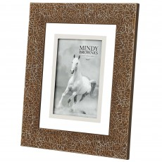 "Mindy Brownes Ella Photo Frame (4"" x 6"") Amber & Silver"