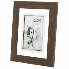 "Mindy Brownes Aria Photo Frame (4"" x 6"") Leather Brown"