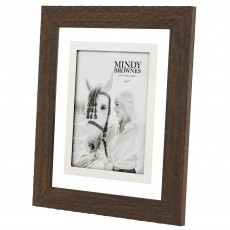 "Mindy Brownes Aria Photo Frame (5"" x 7"") Leather Brown"