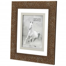 "Mindy Brownes Ella Photo Frame (5"" x 7"") Amber & Silver"