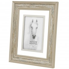 "Mindy Brownes Madison Photo Frame (4"" x 6"") Wood Silver"
