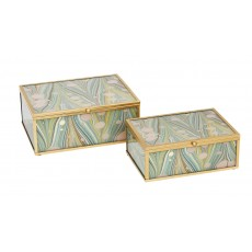 Mindy Brownes Accessory Box Duck Egg Blue (Set of 2)