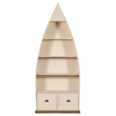Cape Cod Painted Boat Shaped Bookcase