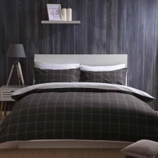 Belledorm Vail Reversible Duvet Cover Set Charcoal