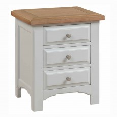 Seychelles 3 Drawer Bedside Locker Light Grey & Oak