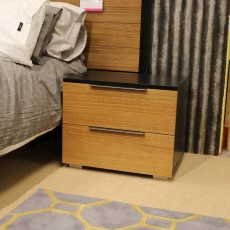 Whisper 2 Drawer Bedside Locker Cherry
