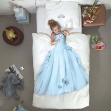 Snurk Princess Duvet Cover Set Blue