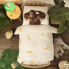 Snurk Banana Monkey Duvet Cover Set