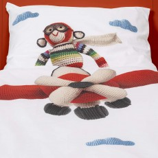 Snurk Airplane Monkey by Anne-Claire Petit King Duvet Cover Set