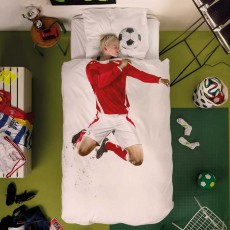 Snurk Soccer Champ Duvet Cover Set Red