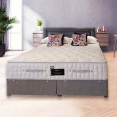 Meubles Hotel Collection Superior Pocket Double (135cm) Platform Top Divan Set Plush Velvet Fabric