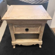Fabian White Oak Lamp Table