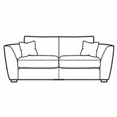 Collins & Hayes Henderson 3 Seater Sofa Fabric A
