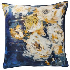 Scatter Box Gigi Cushion 45cm x 45cm Navy/Yellow