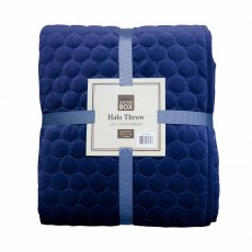 Scatter Box Halo Throw 140cm x 240cm Navy