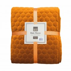 Scatter Box Halo Throw 140cm x 140cm Pumpkin