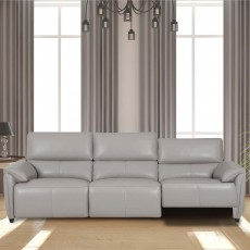 Grivola 2.5 Seater Electric Reclining Sofa With USB Leather Category 20