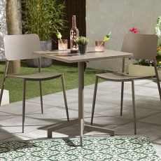Portland Iron 2 Person Outdoor Bistro Set Taupe