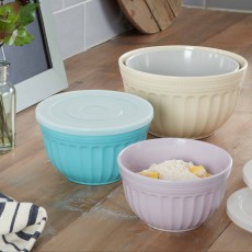 Swan Set Of 4 Large Mixing Bowls With Lids