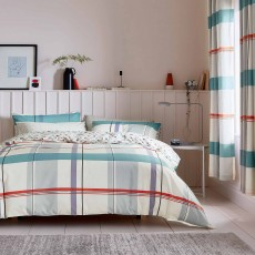 Helena Springfield Klint Reversible Duvet Cover Set Coral