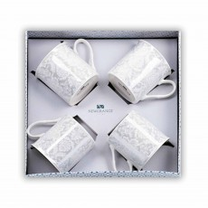 Newgrange Living Bella Bone China Mugs set of 4 Grey