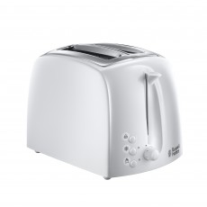 Russell Hobbs Textures Collection 2 Slice Toaster White