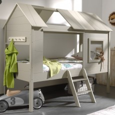 Vipack Charlotte Tree House/Hut Single (90cm) Bed Grey