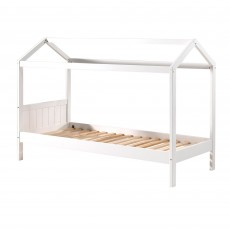Vipack Erik House Shaped Single (90cm) Bed White