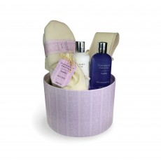 Tipperary Crystal Luxury Sweet Pea Bath & Shower Set Hatbox
