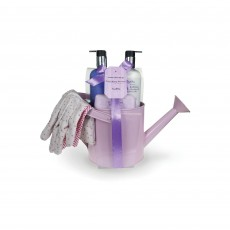 Tipperary Crystal Luxury Sweet Pea Bath & Shower Set Watering Can